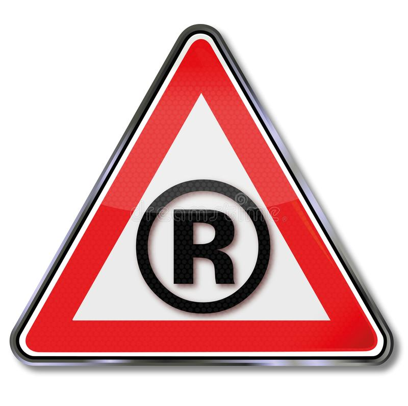 R e marchio di fabbrica illustrazione vettoriale