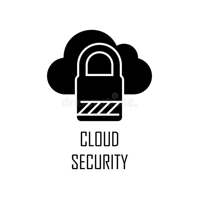 r Elemento do desenvolvimento da Web para apps móveis do conceito e da Web O ícone detalhado da segurança da nuvem pode ser usado ilustração stock