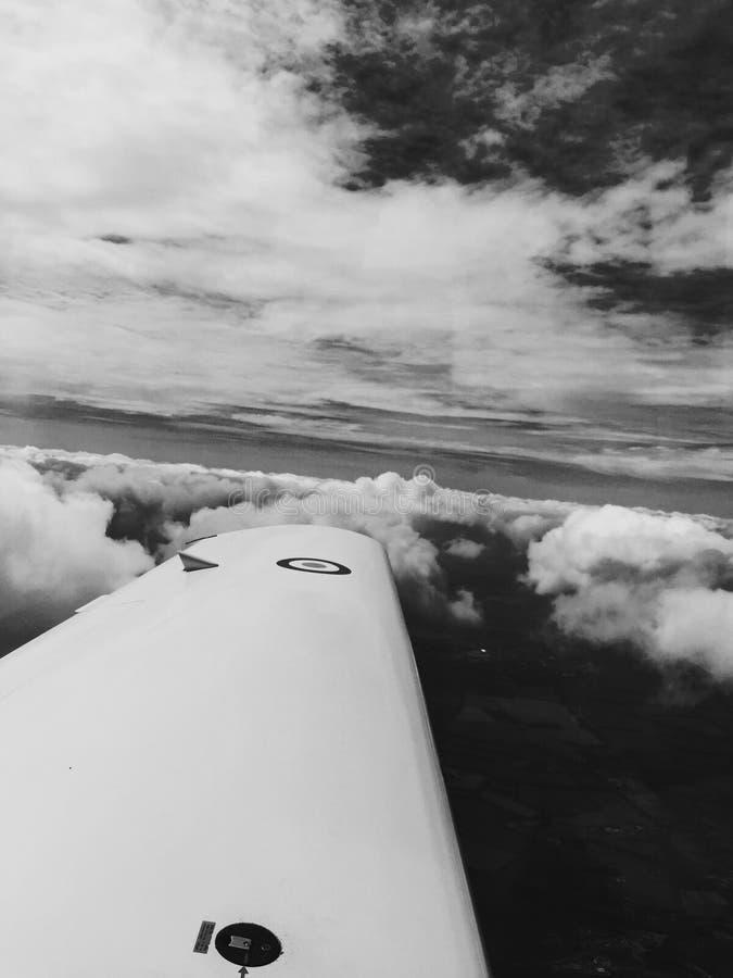 R.A.F.-privé-leraar 4300 voet in de lucht Oxford stock foto