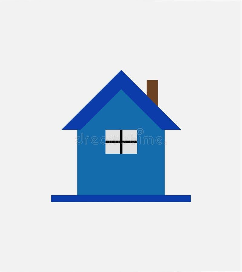 r Fastighet hus, hem- logodesign royaltyfri illustrationer