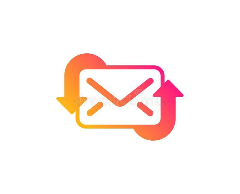 R?g?n?rez l'ic?ne de courrier Nouveau signe de correspondance de messages Vecteur illustration stock