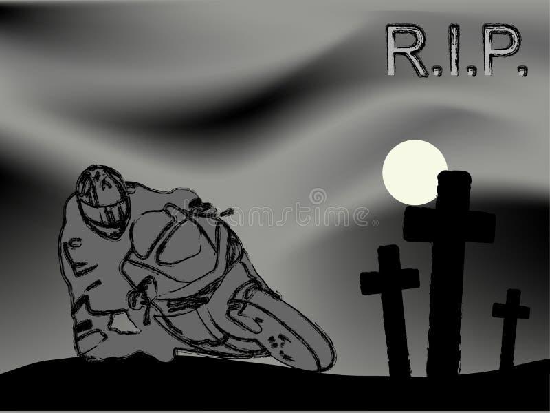 R.I.P. ilustração stock
