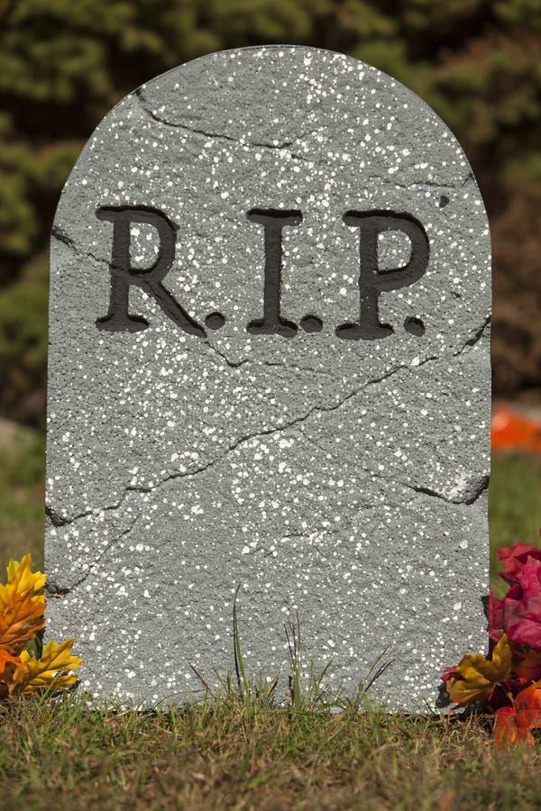 R.I.P. Grave Stone royaltyfria foton