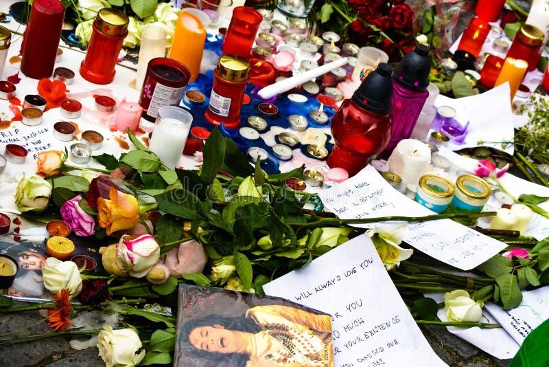R.I.P. Michael Jackson - Prag stockbilder