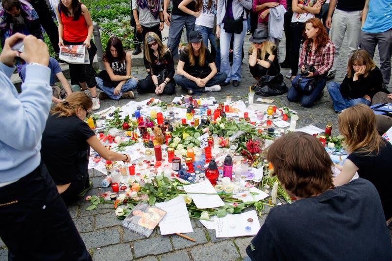 Download R.I.P. Michael Jackson - Prague Editorial Photography - Image: 9952707