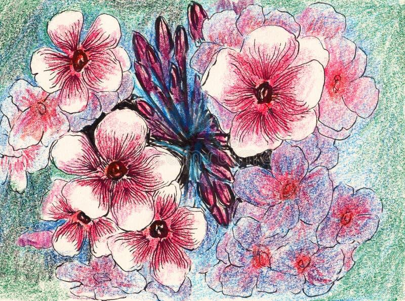 Download Ręka remisu kwiat ilustracji. Ilustracja złożonej z kwiat - 41954079