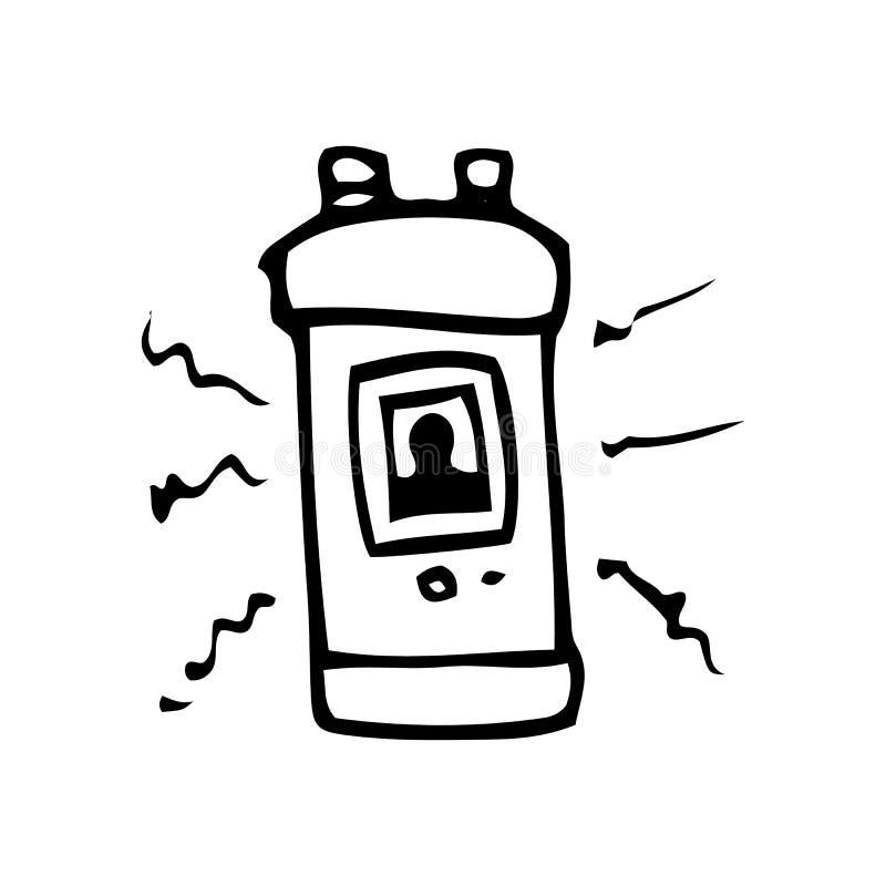 R?ka Rysuj?cy astronauta hibernacji doodle Nakre?lenie stylowa ikona Dekoracja element pojedynczy bia?e t?o P?aski projekt wektor ilustracja wektor