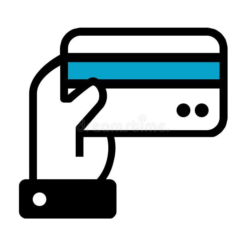 R?ka trzyma kredytowej karty ikon? Eps10 Wektor ilustracji