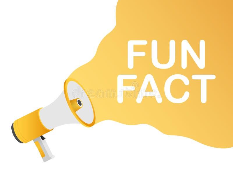 R?ki mienia megafon - zabawa fact budowy ilustraci zapas pod wektorem ilustracji