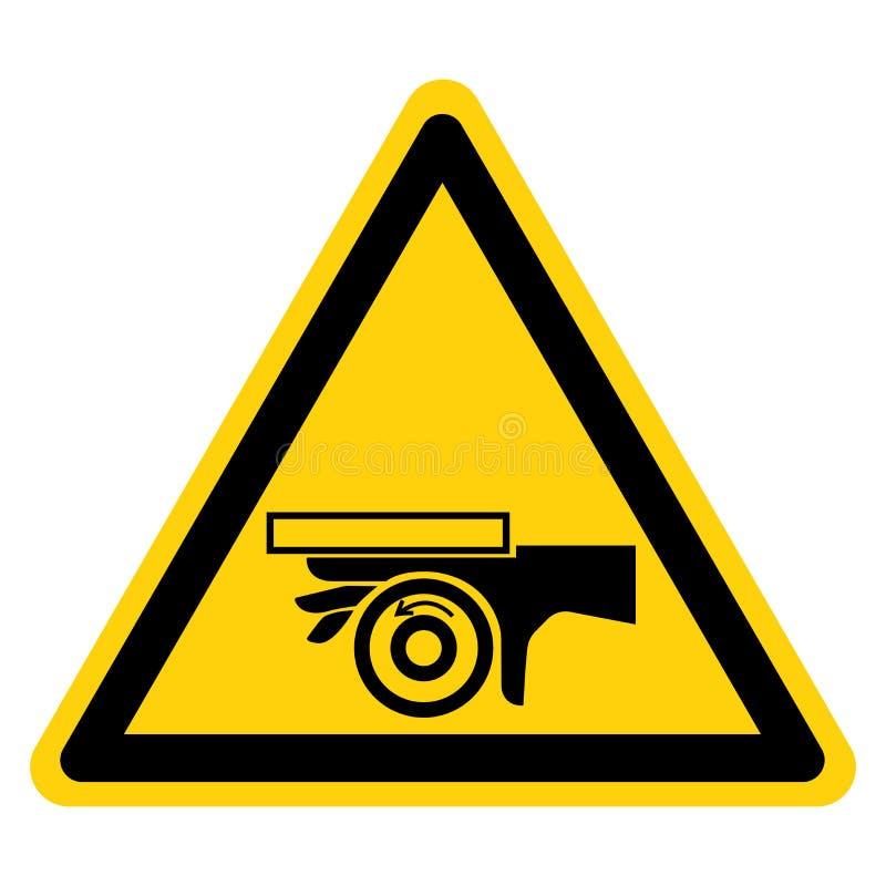 R?ki przyduszenia n?kania punktu symbolu Rolkowy znak, Wektorowa ilustracja, Odizolowywa Na Bia?ej t?o etykietce EPS10 ilustracji