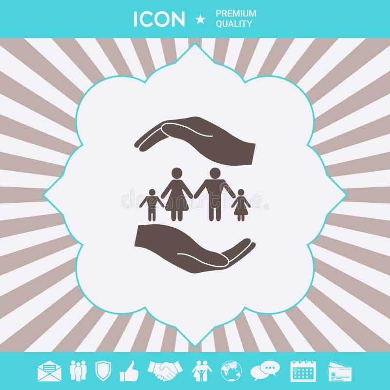 R?ki trzyma symbol rodzina Rodzinna gacenie ikona Graficzni elementy dla tw?j projekta ilustracji