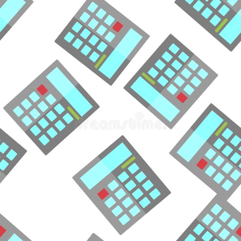 R?knemaskinvektorbild matematiskt symbol Räknemaskinen är ett symbol av den sömlösa modellen för kontot på en vit bakgrund stock illustrationer