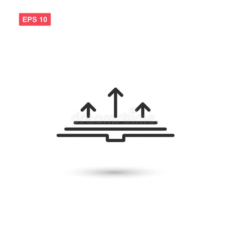 R książkową ikonę wektorowy projekt odizolowywał 3 ilustracja wektor