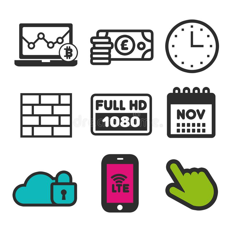 r Laptop statystyk symbol Pełna HD ikona Zapora znak Zegarowe i Kalendarzowe ikony ilustracji