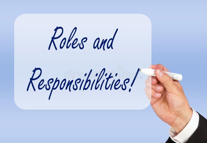 Rôles et responsabilités ! photographie stock libre de droits