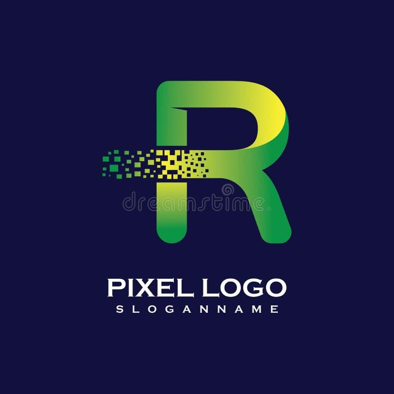 R Letter Logo Design. Stock Vector. Illustration Of Card