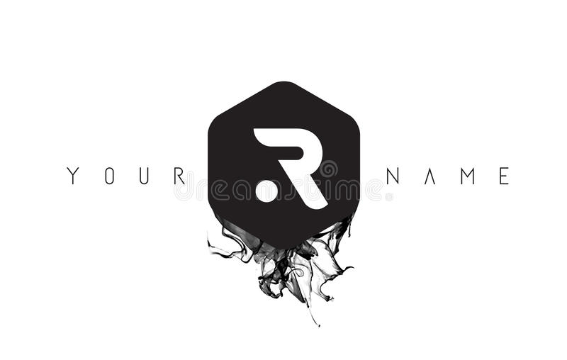 R letter logo design with black ink spill stock vector download r letter logo design with black ink spill stock vector illustration of trendy altavistaventures Image collections