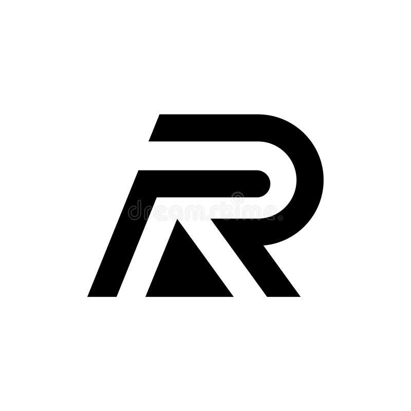 R Letter Logo Icon Mosaic Pattern Design template Element. RR logo, monogram vector. Letter R logo monogram, mockup hipster black stock photos