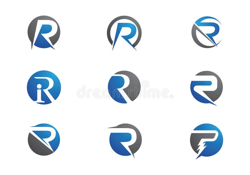 R Letter Logo. Business Template Vector icon stock illustration