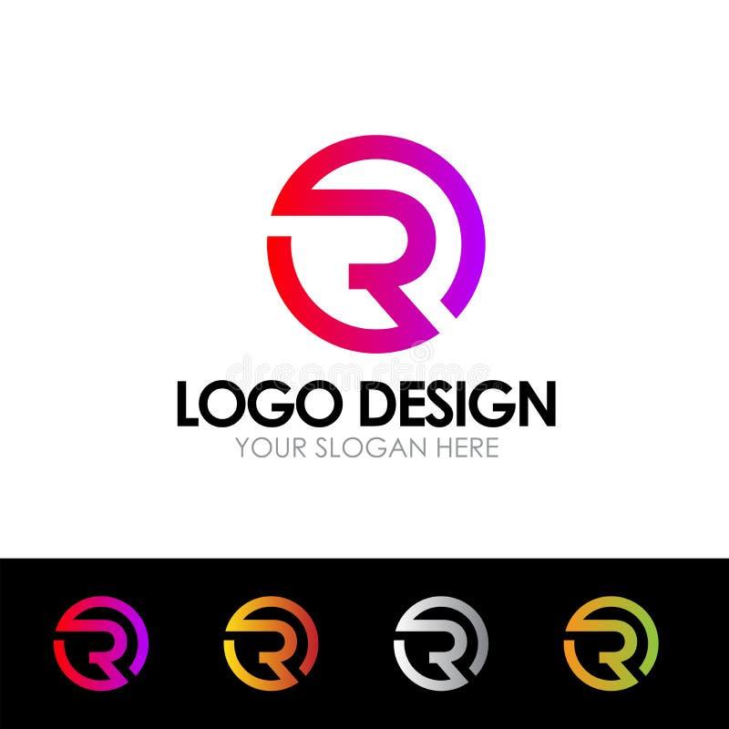 R Letter Logo Vector Illustration, Company Logo Design διανυσματική απεικόνιση