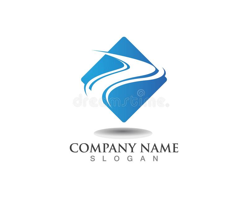 R Letter River Logo Template icon stock illustration