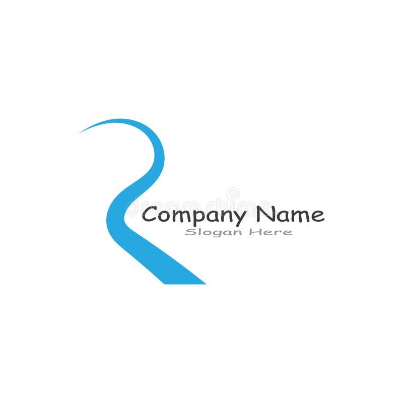 R Letter River Logo Template vector icon illustration. royalty free illustration