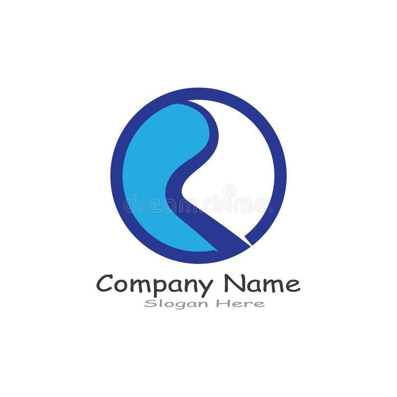 R Letter River Logo Template vector icon illustration. stock illustration