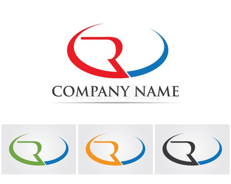 R logo design vector Business corporate letter.. vector illustration