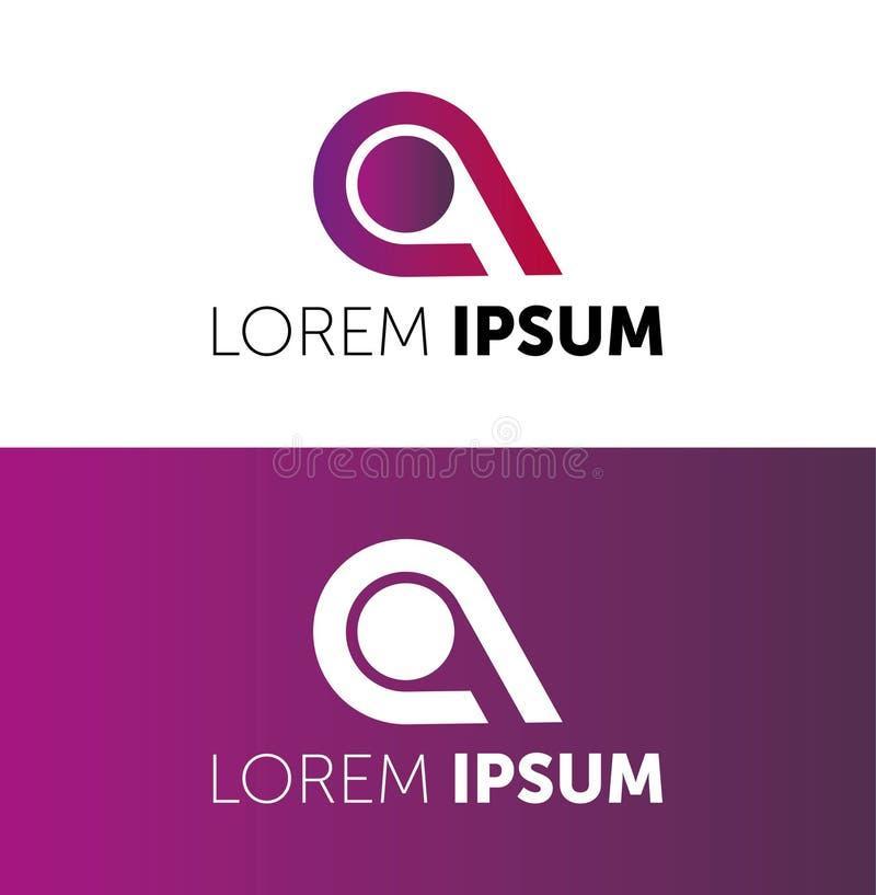 r LOREM IPSUM略写法 您的公司的象 r 颜色象 CREATIVE COMPANY 向量例证