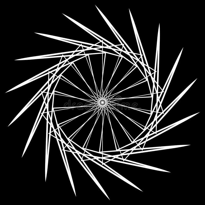 r Mandala circular abstrata Motivo esotérico ilustração do vetor