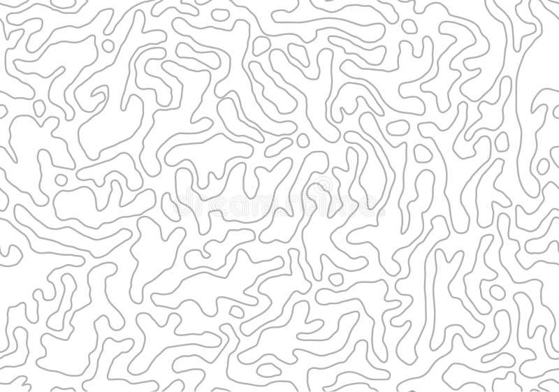 r Monochrome органические формы Абстрактная предпосылка плана бесплатная иллюстрация