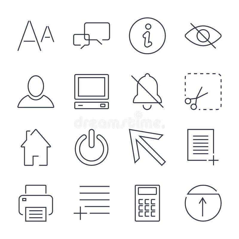 R??ne og?lnoludzkie ikony dla apps, miejsc, program?w i inny, Editable uderzenie royalty ilustracja