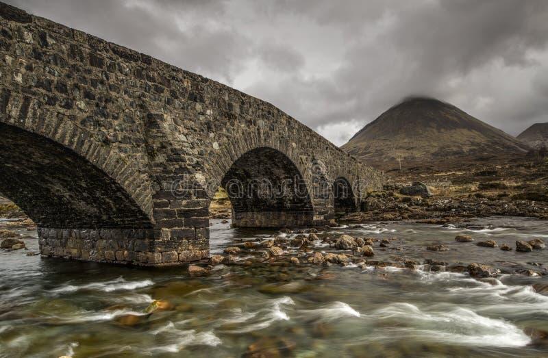 R?o de Sligachan en la isla de Skye foto de archivo libre de regalías
