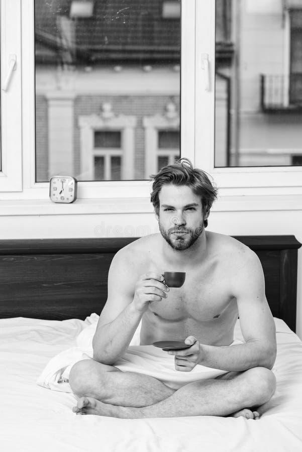 r Ogni mattina con il suo caff? Cominci buon giorno E fotografia stock