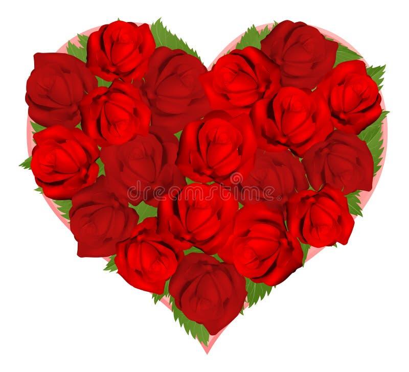 röd roform för härlig hjärta stock illustrationer