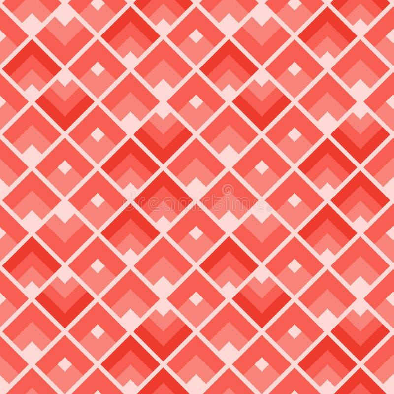 R?p?tition de rectangles Tuile color?e de corail de places illustration libre de droits
