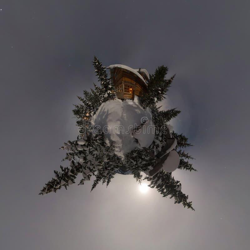 r Panorama minúsculo do planeta 360 imagens de stock