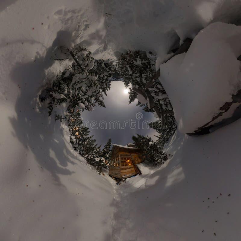 r Panorama minúsculo do planeta 360 fotos de stock royalty free
