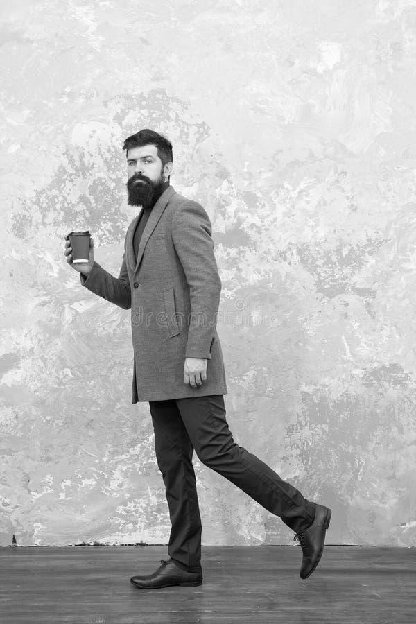 r Pantaloni a vita bassa barbuti brutali nell'usura del denim Stile casuale Vita moderna Modello di modo maschio maturo fotografia stock libera da diritti