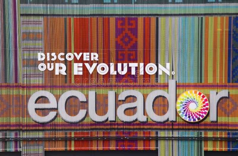 r Pavillon de l'Equateur image libre de droits
