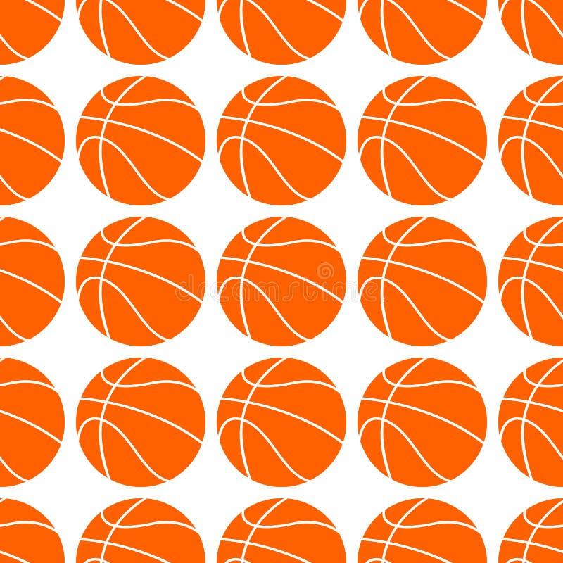 r seamless modell Sportbasketdesign royaltyfri illustrationer