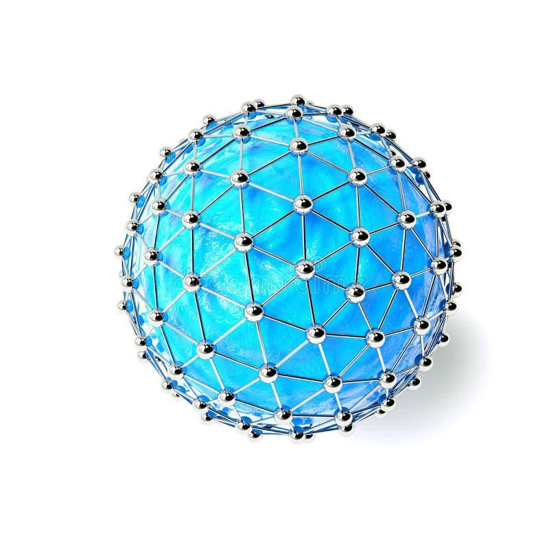 R?seaux - conception de globe Concept de connexion 3d rendent illustration libre de droits
