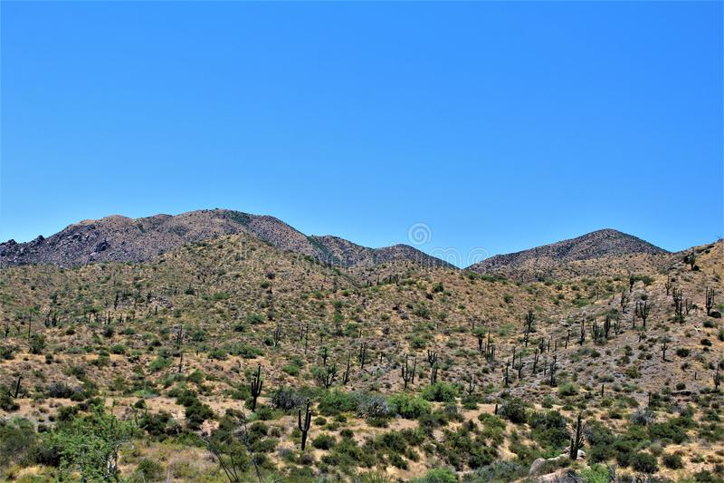 R?servoir de Bartlett Lake, le comt? de Maricopa, ?tat vue sc?nique de paysage d'Arizona, Etats-Unis images stock