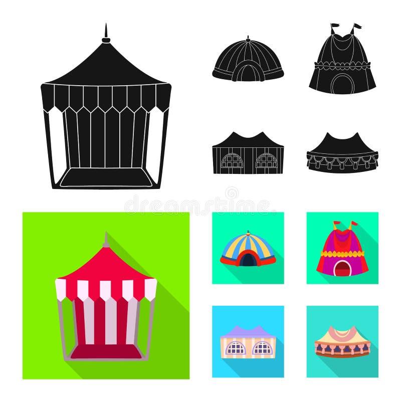 r Set dach i architektury akcyjna wektorowa ilustracja ilustracji