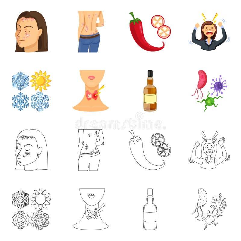 r Set medyczna i choroba wektorowa ikona dla zapasu royalty ilustracja