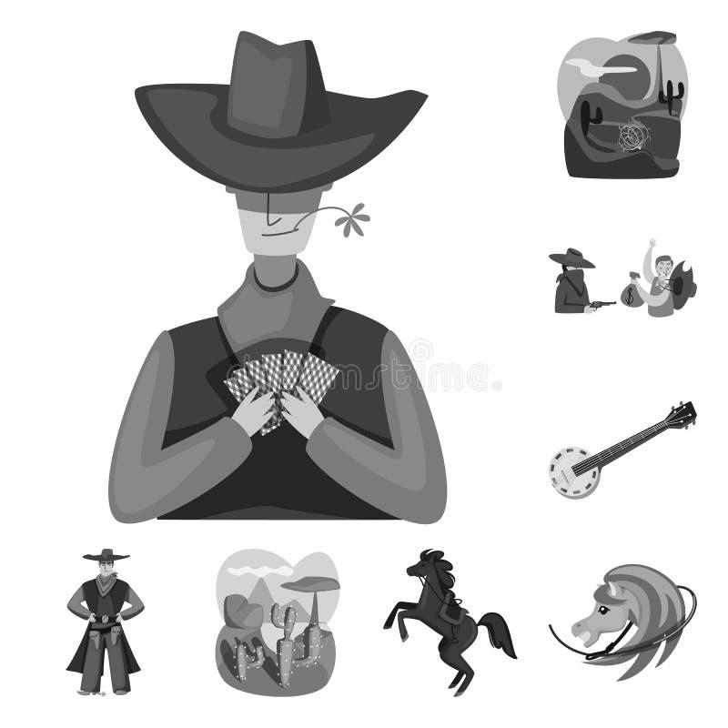 r Set rancho i historii akcyjna wektorowa ilustracja royalty ilustracja