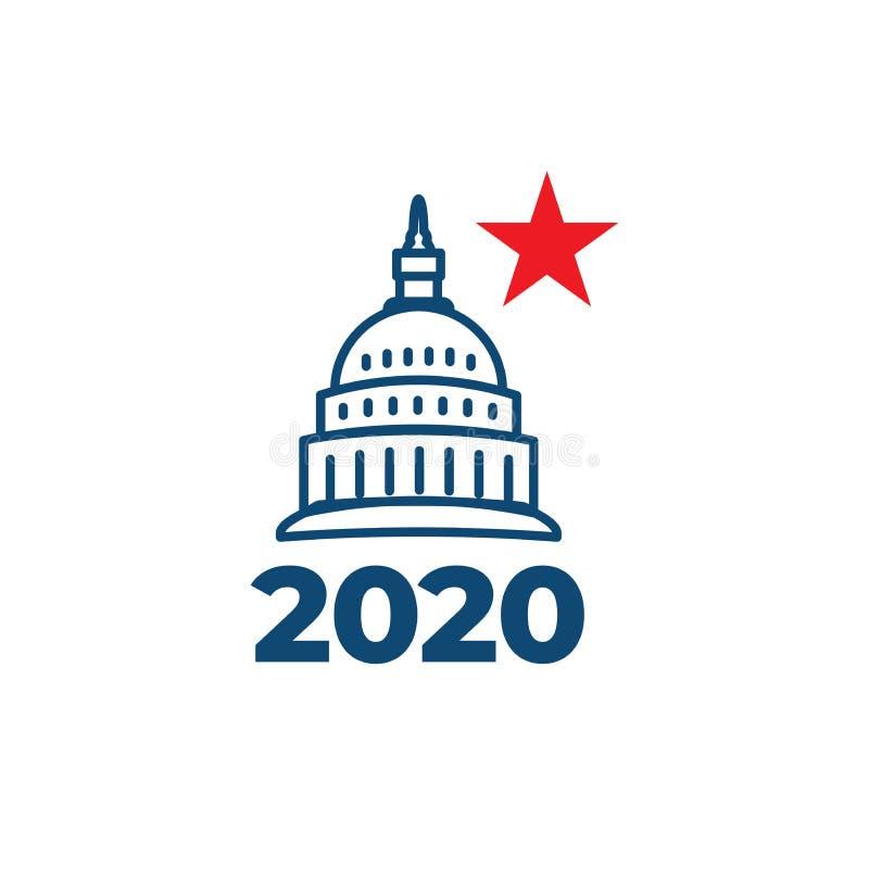 R?sta symbolen 2020 med r?sta, regeringen, & den patriotiska symbolismen och f?rger vektor illustrationer