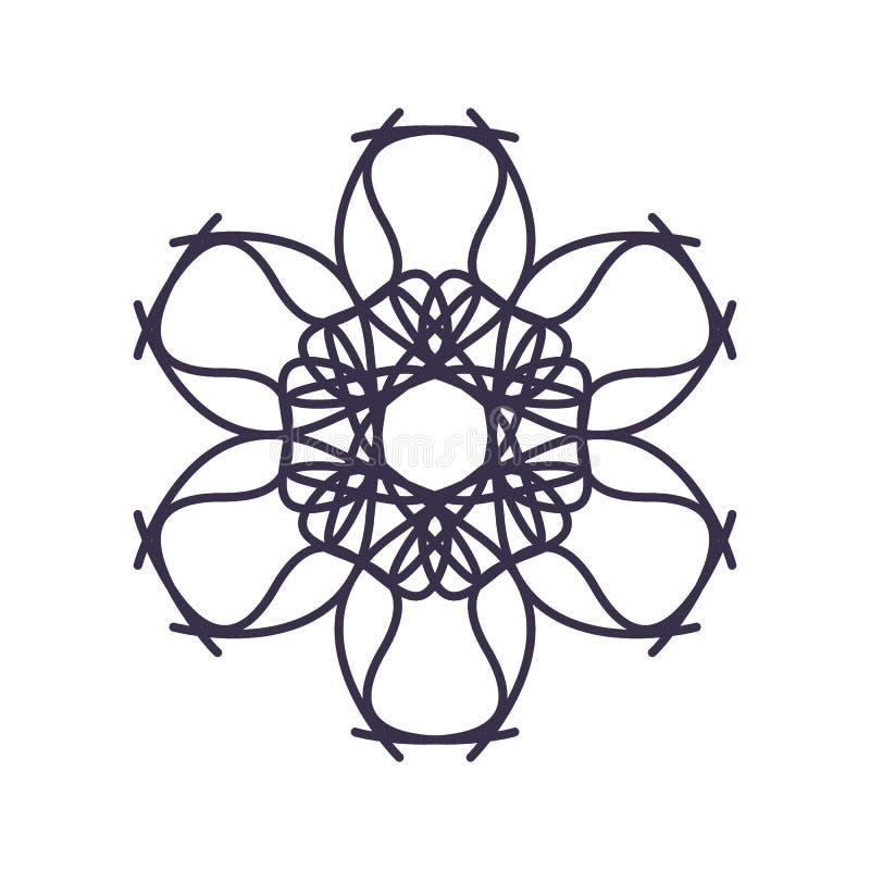 R?sum? Mandala Geometry Outline pour la d?coration ou le tatouage illustration libre de droits