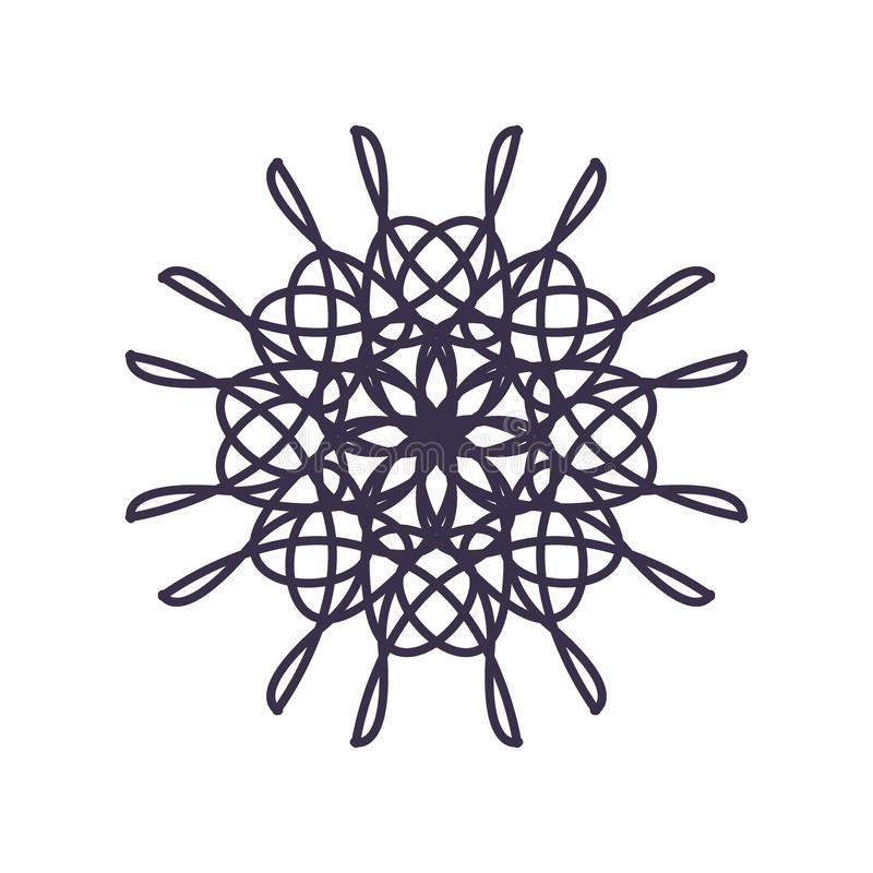 R?sum? Mandala Geometry Outline pour la d?coration ou le tatouage illustration stock