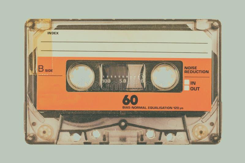 R?tro image d?nomm?e d'une cassette compacte photos stock